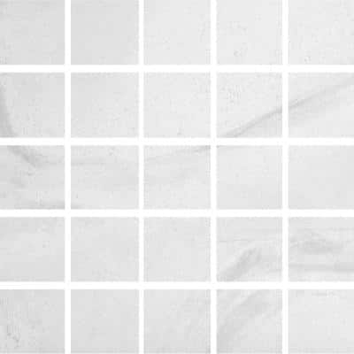 Stonewall White 12 in. x 12 in. x 9mm Porcelain Mesh-Mounted Mosaic (5 sq. ft. / case)