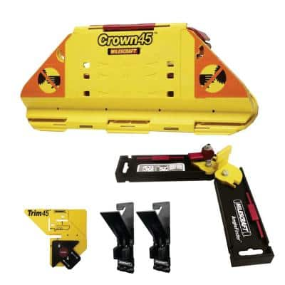 Crown Molding, Base Board, Window Casing & Door Trim Installation Kit- Angle Finder Included