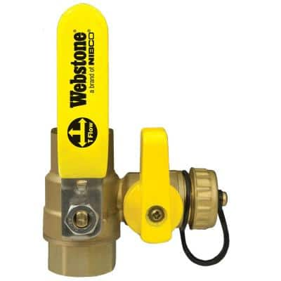 1 in.Forged Brass Lead-Free Sweat x FIP Full Port Ball Valve with Hi-Flow Hose Drain