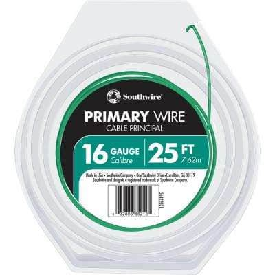 25 ft. 16 Green Stranded CU GPT Primary Auto Wire
