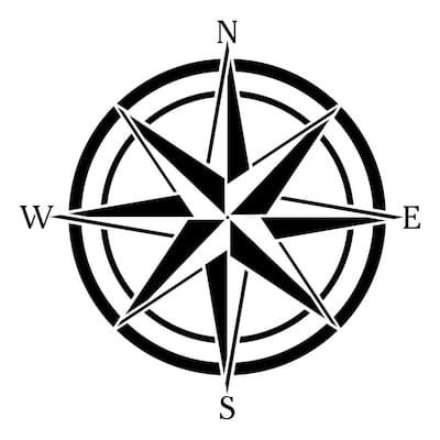 Compass Rose Wall Stencil
