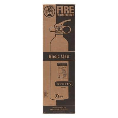 Code One Fire Extinguisher with Mount Bracket & Strap, 5-B:C Rated for Basic Use