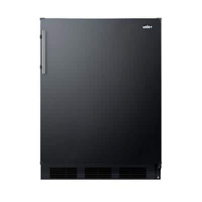 24 in. W 5.5 cu. ft. Mini Refrigerator in Black without Freezer