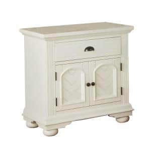 Addison 1-Drawer Nightstand in White