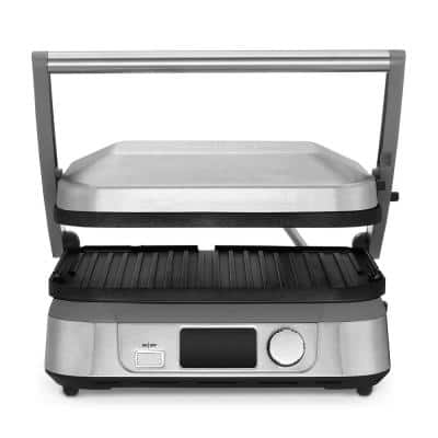 Griddler 5-Brushed Stainless Steel Panini Press and Griddle