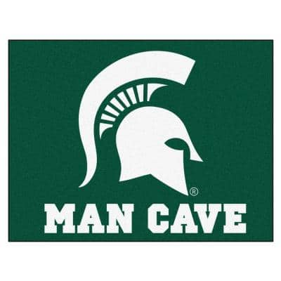 Michigan State University Green Man Cave 3 ft. x 4 ft. Area Rug