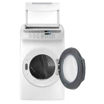7.5 Total cu. ft. Gas FlexDry Dryer with Steam in White