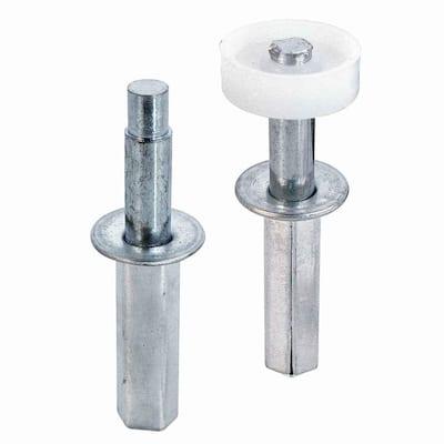 Bi-Fold Door Top Pivot and Guide Set, 7/16 in. steel housing