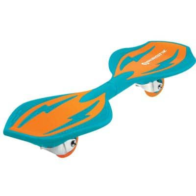 Ripster Bright 2-Wheel Twisty 360-Degree Caster Board in Orange/Teal