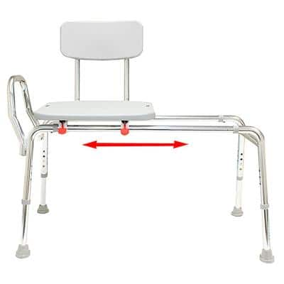 Sliding Bath Transfer Bench - Regular (Base Length: 39 in. to 40 in.) 400 lb. Weight Capacity - Heavy-Duty