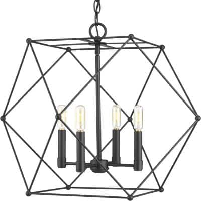 Spatial Collection 4-Light Black Pendant