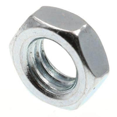 3/8 in.-16 A563 Grade A Zinc Plated Steel Hex Jam Nuts (100-Pack)