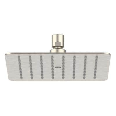 Piano 1-Pattern 1.75 GPM 7.87 in. Ceiling Mount Square Shower Head in Brushed Nickel