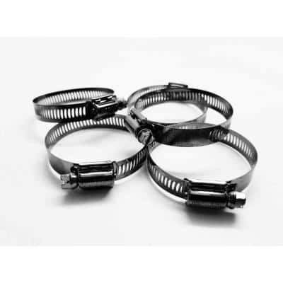 Marine Grade 300 Stainless Steel, SAE #24 Worm Gear Hose Clamp Treated with NL-19 with Added BLK-29(SM)