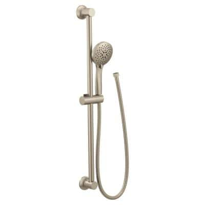 30 in. Eco-Performance Wall Bar with 5-Spray Handheld Shower in Brushed Nickel