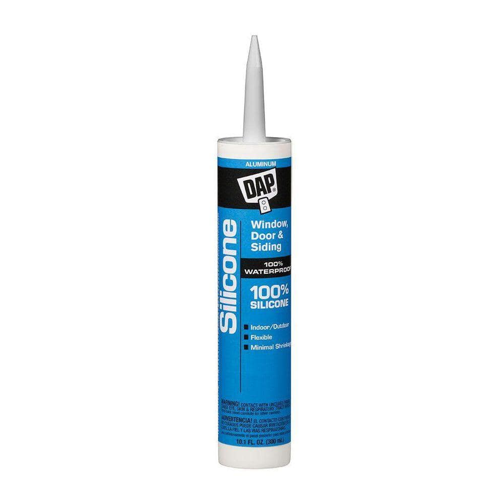 DAP Silicone 10.1 oz. Aluminum Gray Window, Door and Siding Sealant (12-Pack)