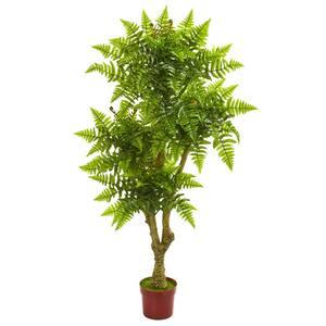 Indoor/Outdoor 5.5 ft. Boston Fern Artificial Tree UV Resistant