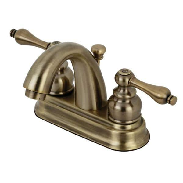 Centerset 2 Handle Bathroom Faucet, Antique Brass Bathroom Fixtures
