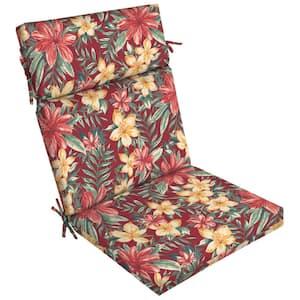 21 x 44 Ruby Clarissa Tropical Outdoor Dining Chair Cushion