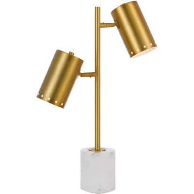 Derry 20 in. Matte Gold Table Lamp
