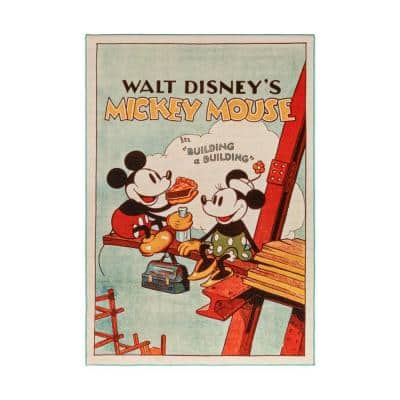 Mickey Mouse Poster Multi-Colored 5 ft. x 7 ft. Indoor Polyester Area Rug