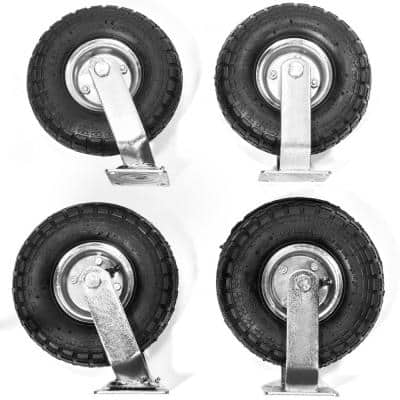 10 in. Industrial Pneumatic Casters (4-Pack)