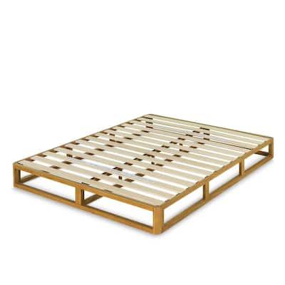 Wood 8 in. King Platforma Bed Frame