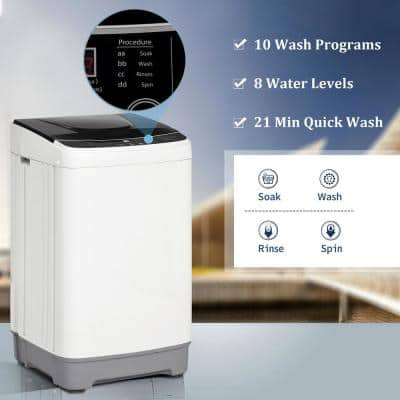 12 lb. 1.35 cu. ft. High-Efficiency Full-Automatic Washing Top Load Washing Machine Portable Compact Laundry