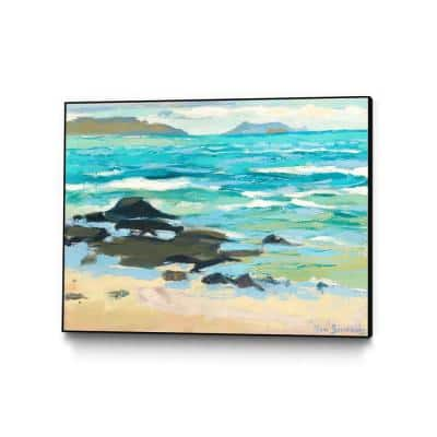 """""""Hawaii 5.0"""" by Ron Simpkins Framed Abstract Wall Art Print 40 in. x 30 in."""