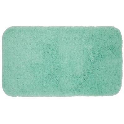 Pure Perfection Sea Spray 17 in. x 24 in. Nylon Machine Washable Bath Mat