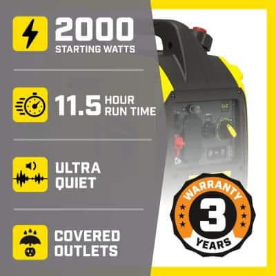2000-Watt Ultralight Portable Inverter Generator
