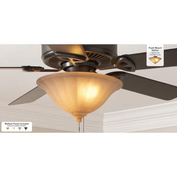 Hampton Bay 2 Light Ceiling Fan Light Kit 03722 The Home Depot