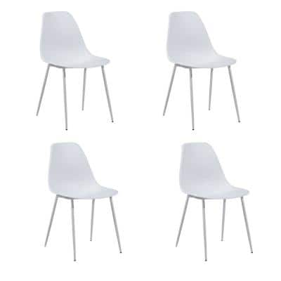 Konwin White Plastic Dining Chair (Set of 4)