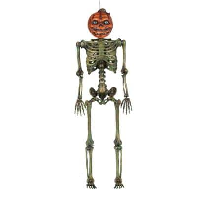6 ft. Rotten Patch LCD Posable Pumpkin Skeleton with LifeEyes(TM)