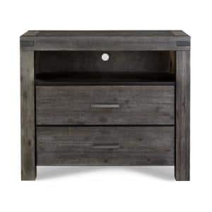 Meadow 42 in. Graphite Wood TV Stand with 3 Drawer Fits TVs Up to 42 in. with Cable Management
