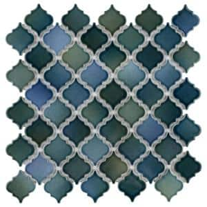 Hudson Tangier Lagoon 12-3/8 in. x 12-1/2 in. Porcelain Mosaic Tile (10.96 sq. ft./Case)