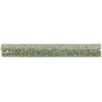 Angela Harris Green 1 in. x 8 in. Polished Ceramic Wall Pencil Liner Tile