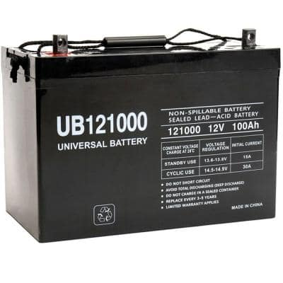 12-Volt 100 Ah Z1 Terminal Sealed Lead Acid (SLA) AGM Rechargeable Battery