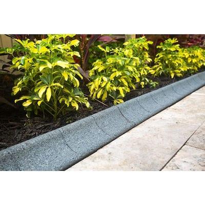 4 ft. Grey Rubber Curb Landscape Edging (4-Pack)