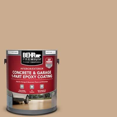 1 Gal. #PFC-23 Tan Self-Priming 1-Part Epoxy Satin Interior/Exterior Concrete and Garage Floor Paint