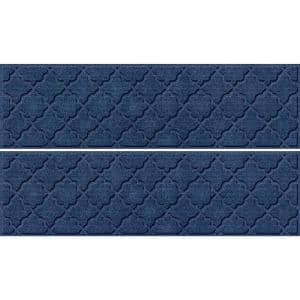 Cordova 8.5 in x 30 in Stair Treads (Set of 4) Navy