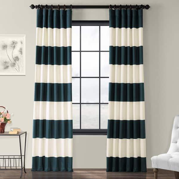 Exclusive Fabrics Furnishings Dusk, White Room Darkening Curtains 96 Inch