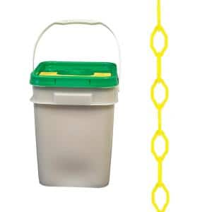 2 in. x 280 ft. Gothic Plastic Chain in Pail Yellow