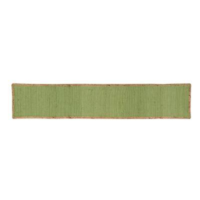 Element Border Woven Sage Cotton Table Runner