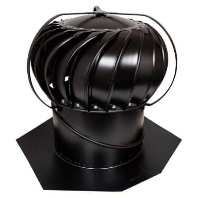 12 in. Black Aluminum Externally Braced Wind Turbine