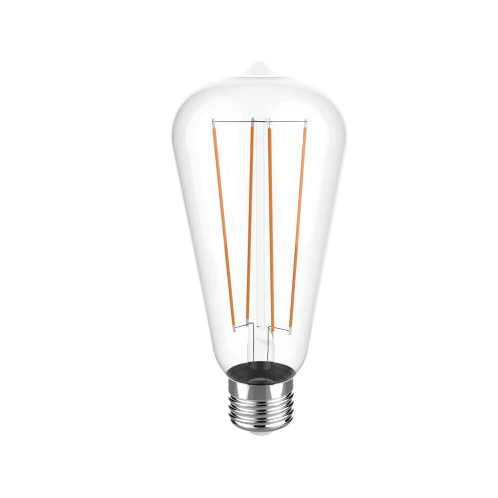 Euri Lighting 40w Equivalent Warm White 2700k St19 Dimmable Clear Led Light Bulb Vst19 2000 The Home Depot