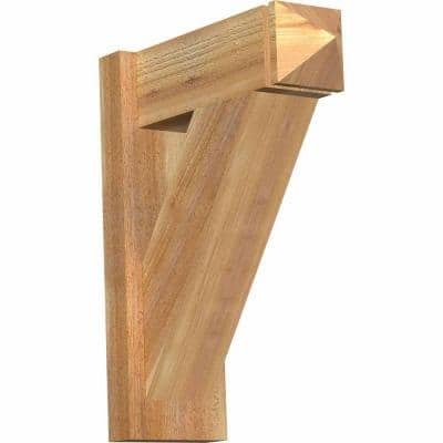 6 in. x 20 in. x 16 in. Western Red Cedar Traditional Arts and Crafts Rough Sawn Outlooker