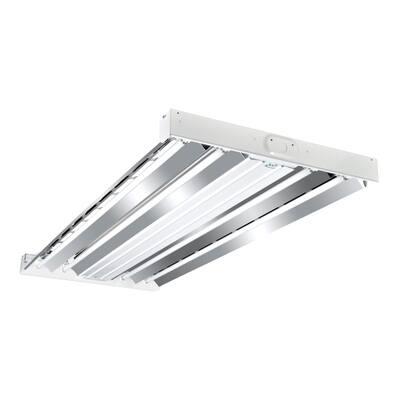 4-Light 2 ft. x 4 ft. White High Output Fluorescent High Bay