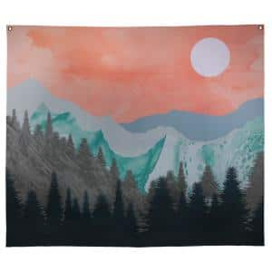 Multi Mountain Sunset Wall Tapestry
