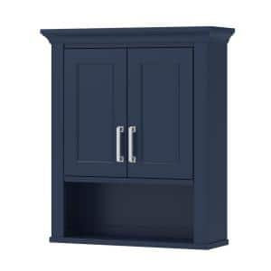 Lawson 24 in. W Bathroom Storage Wall Cabinet in Aegean Blue